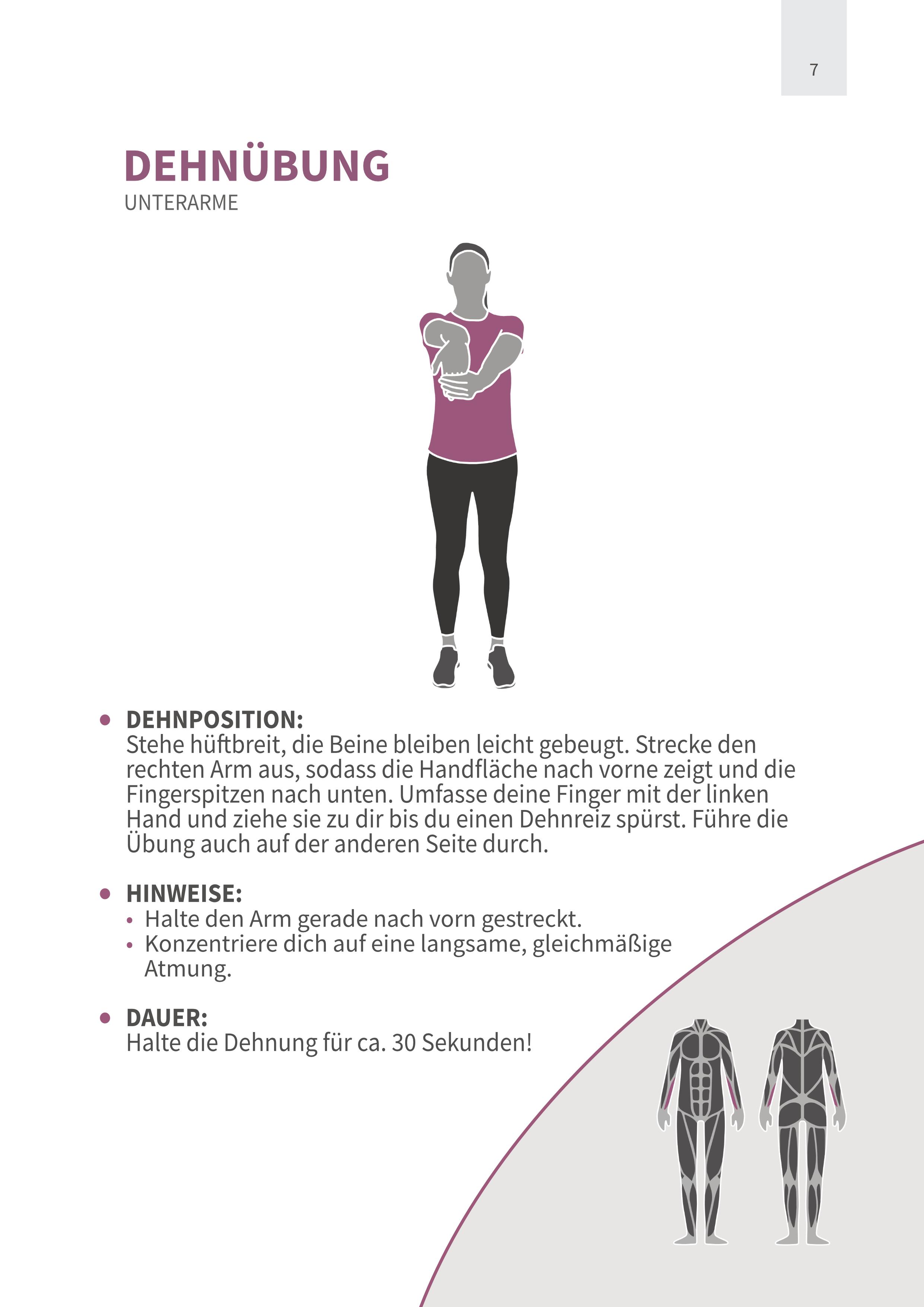 Dehnübung Unterarme