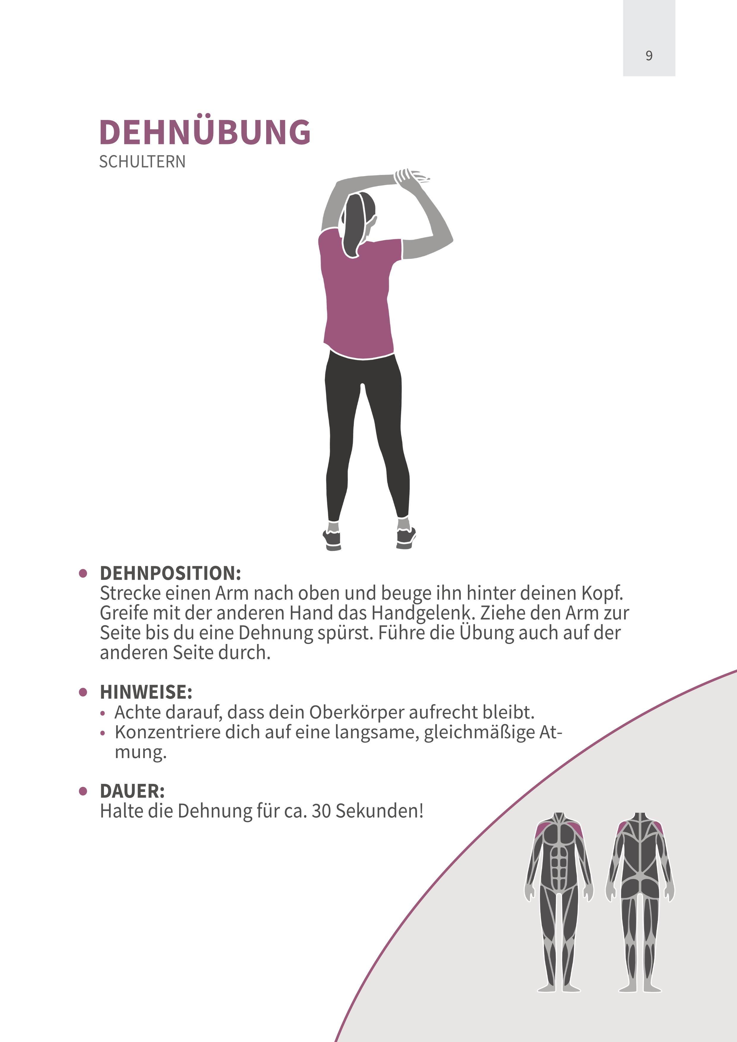 Dehnübung Schulter