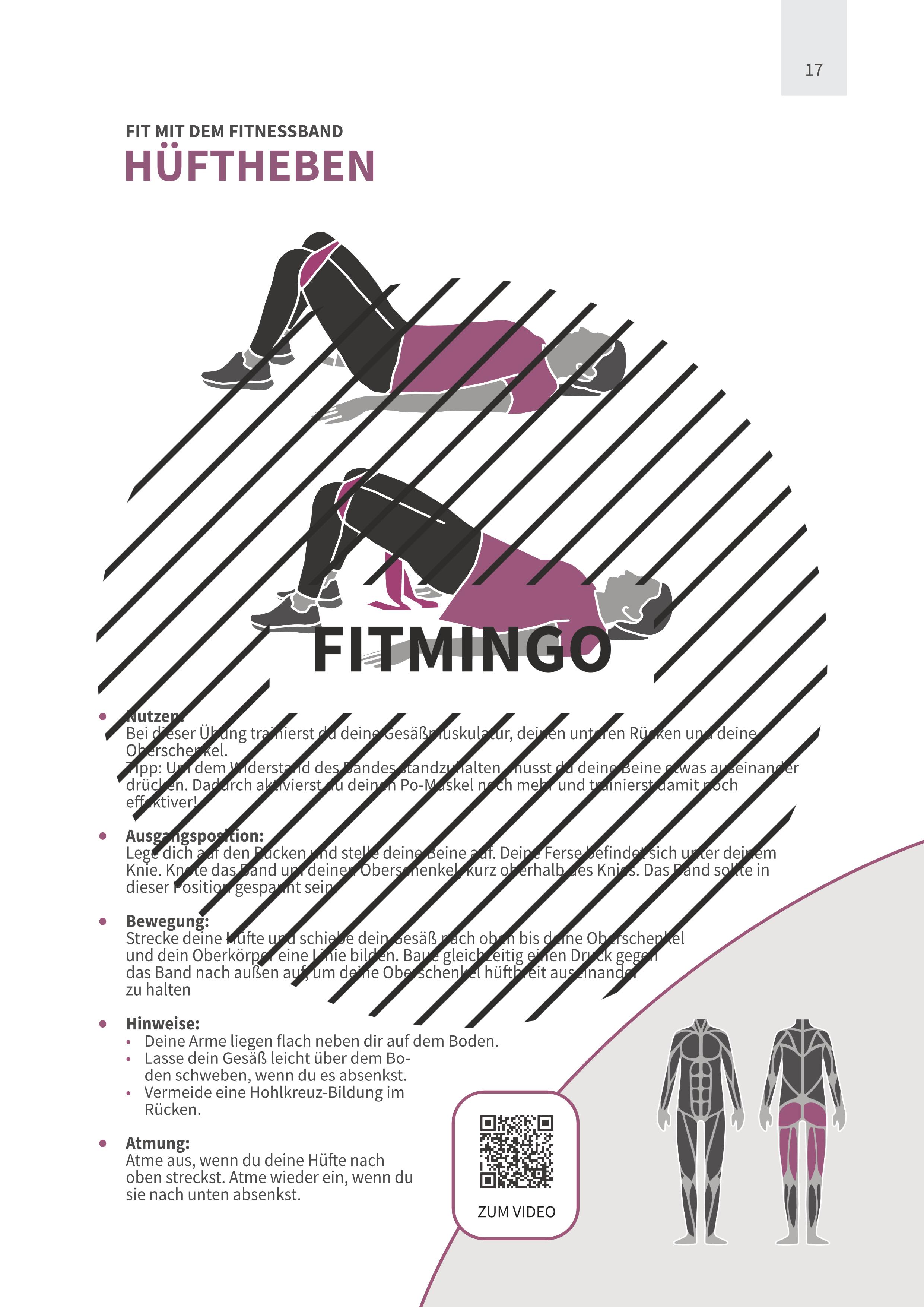 Hüftheben mit Fitnessband