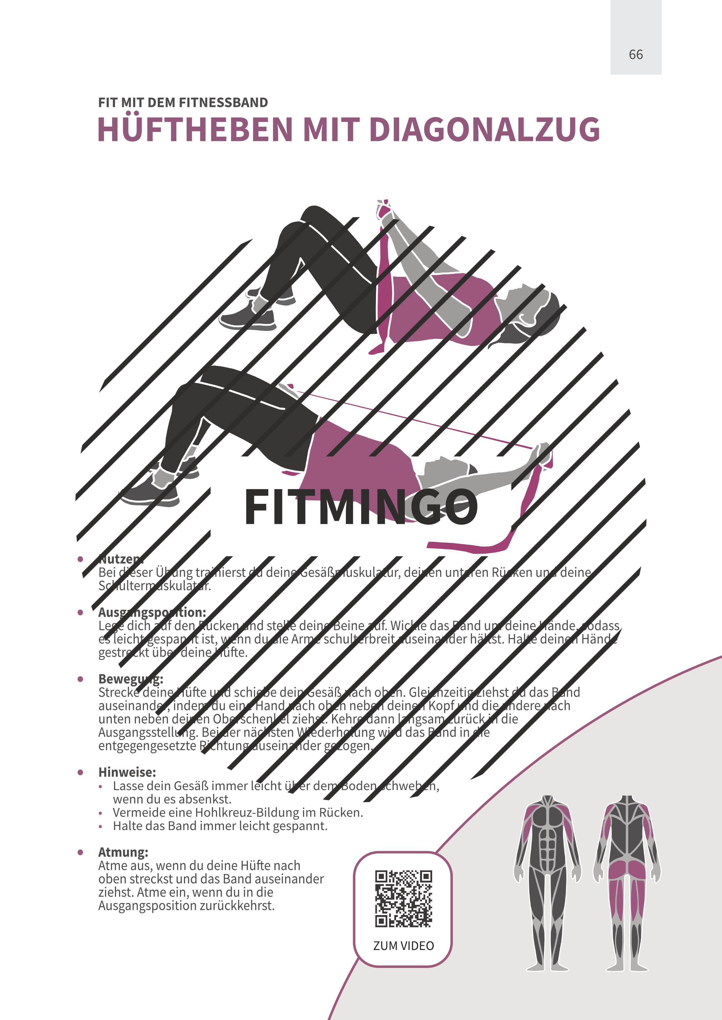 Hüftheben mit Diagonalzug mit Fitnessband