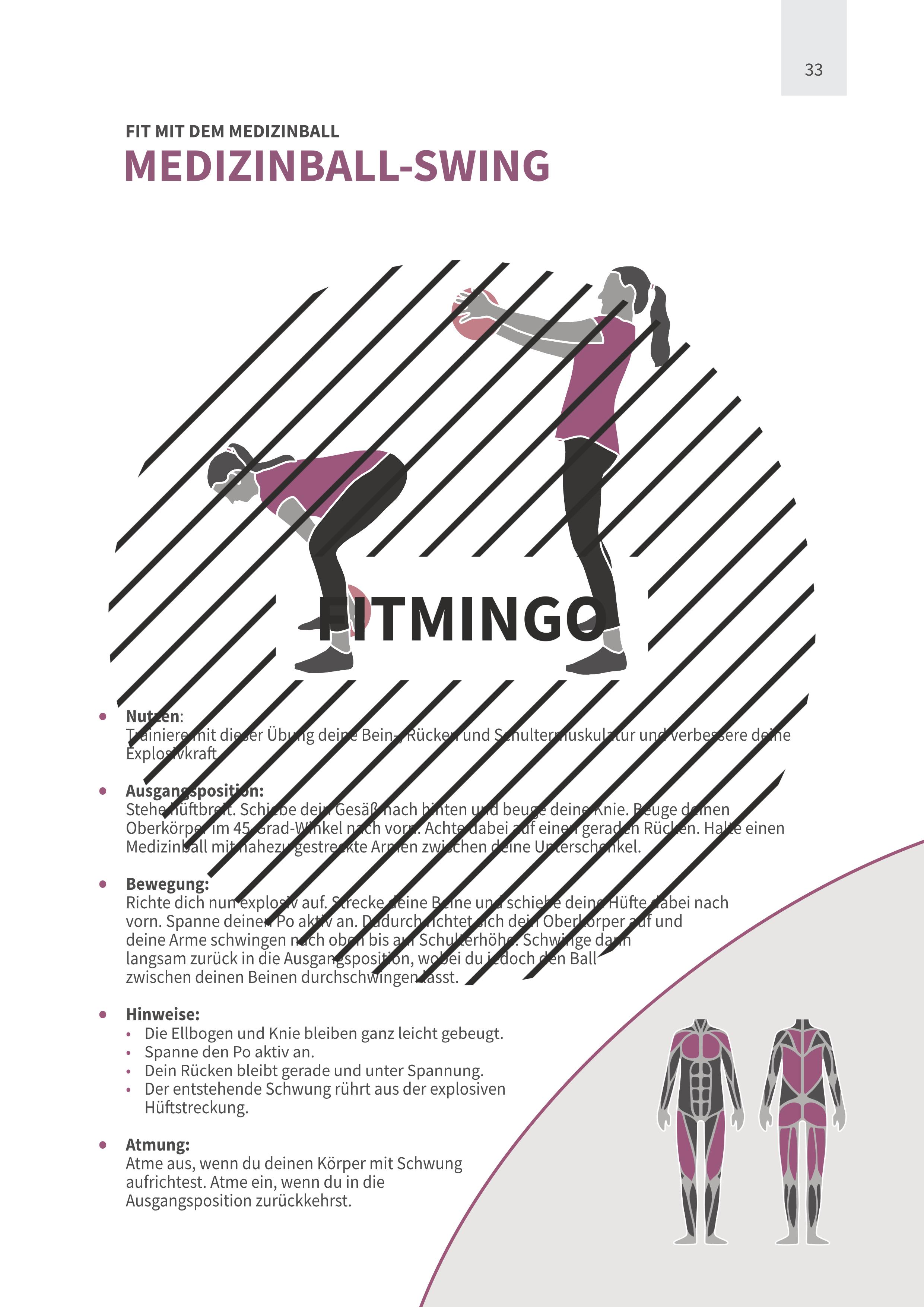 Medizinball-Swing